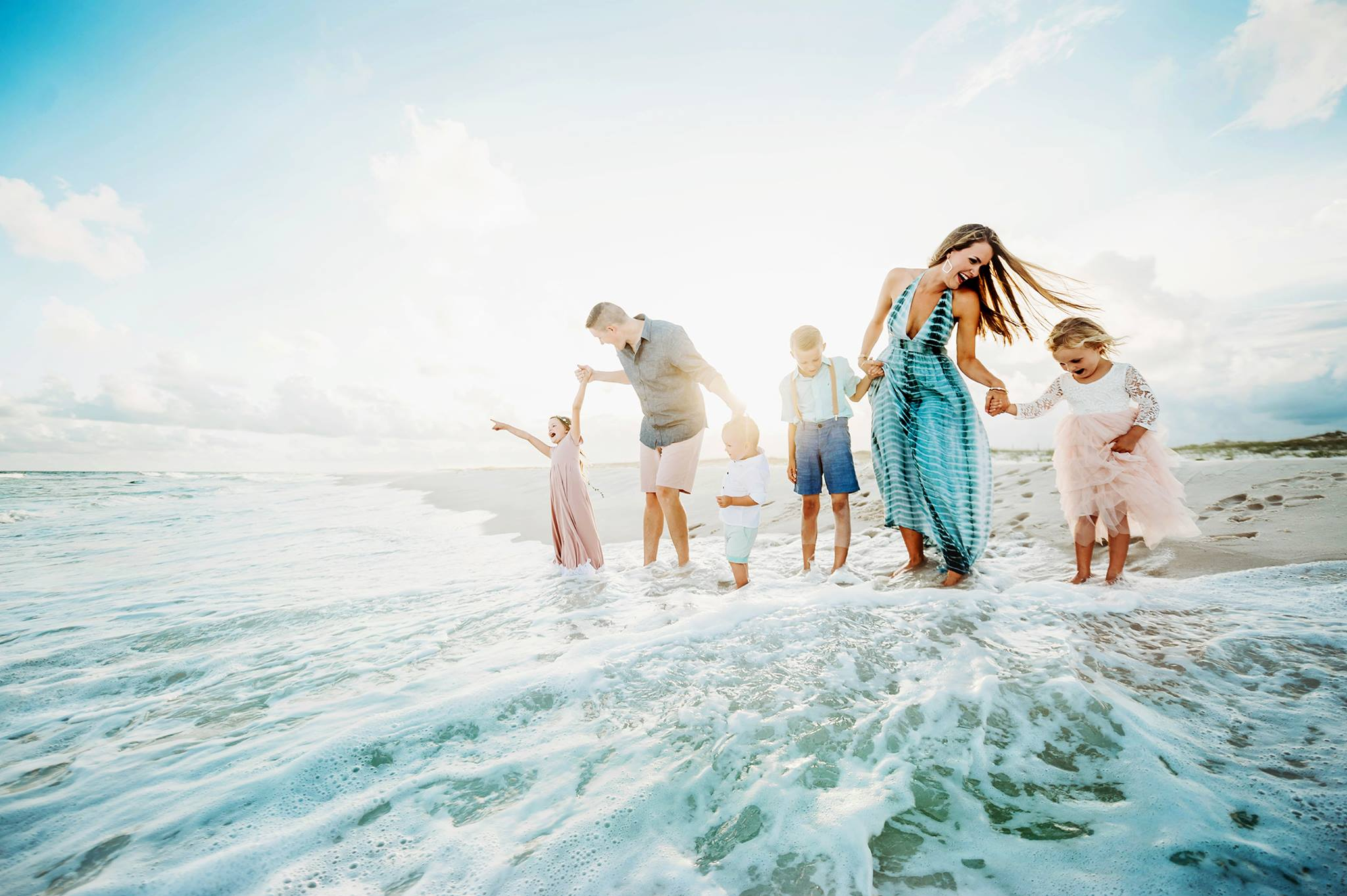 Pensacola Family Beach Photographer, 30A Beach portraits, Jordan Burch