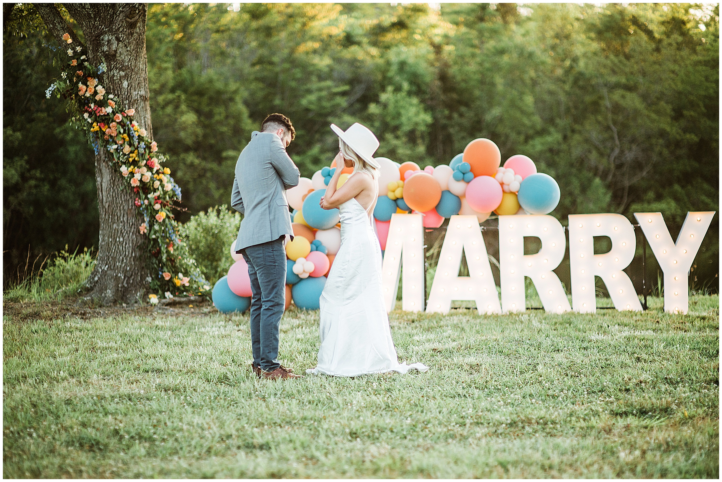 Colorful engagement at The Burch House for Chris Tilley and Kasey Workman