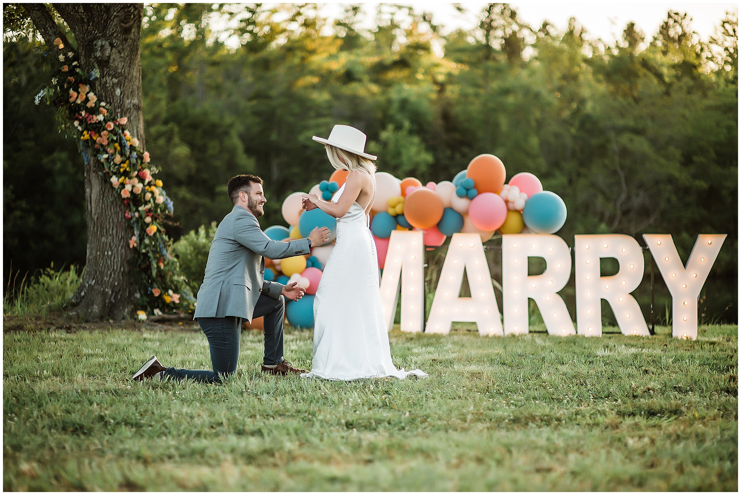 Colorful engagement at The Burch House for Chris and Kasey